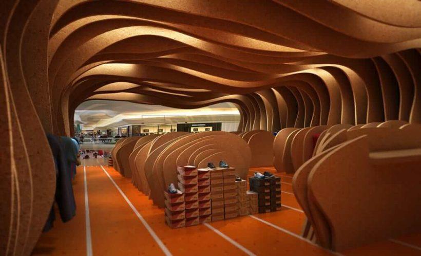 Mağaza Dekorasyonunda Geometrik Raflar